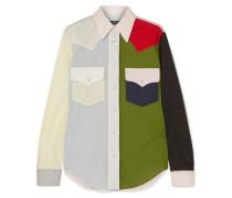 Hemd aus Baumwollpopeline in Colour-block-optik