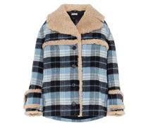Karierte Jacke aus Flanell aus einer Wollmischung