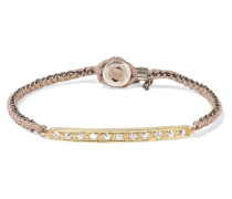 Armband aus 18 Karat , Sterlingsilber und Seide