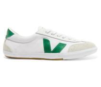 Volley Sneakers aus Biobaumwoll-canvas, Veloursleder und Leder