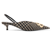 Slingback-pumps aus Tweed