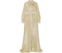 Paillettenverzierte Robe aus Lamé aus einer Seidenmischung