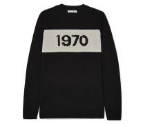 1970 Pullover aus Wolle mit Pailletten