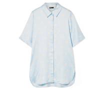 Zoey Oversized-hemd aus Satin