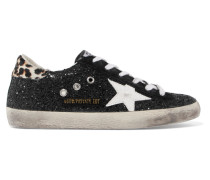 Superstar Sneakers aus Leder in Distressed-optik