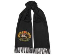 Bestickter Schal aus Kaschmir