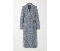 Mantel aus Bouclé-tweed aus einer Wollmischung