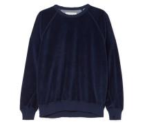 The College Sweatshirt aus Velours aus einer Baumwollmischung