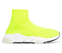 Speed High-top-sneakers aus Stretch-strick in Neon