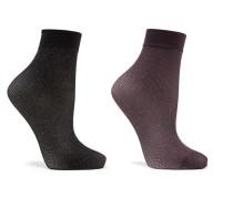 Set aus Zwei Paar Socken aus Lurex®