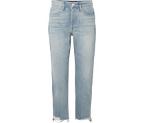 W3 Higher Ground Verkürzte, Hoch Sitzende Jeans