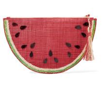 Frutta Verzierter Beutel aus Geflochtenem Stroh