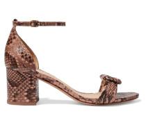 Malica Sandalen aus Pythonleder mit Knoten