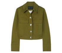 Verkürzte Jacke aus Baumwoll-twill