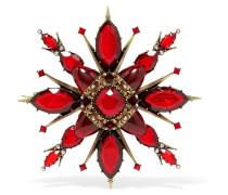 Verete Brosche mit Kristallen
