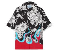 Bedrucktes Hemd aus Popeline