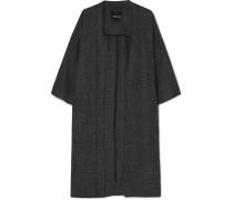Karierter Kimono aus einer Leinenmischung