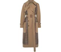 Trenchcoat aus Gabardine und Tweed