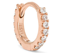 Mini Ohrring aus 18 Karat  mit Diamanten