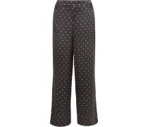 Pyjama-hose aus Seidensatin mit Polka-dots