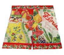 Florida Bedruckte Shorts aus Seiden-jacquard