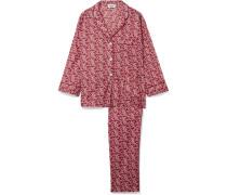 Marina Pyjama aus Floral Bedruckter Baumwolle