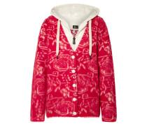 Grenoble Cardigan aus Fleece-jacquard aus einer Wollmischung und Gestepptem Shell