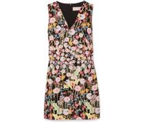 Minikleid aus Cady mit Blumendruck