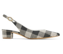 Slingback-pumps aus Baumwoll-canvas