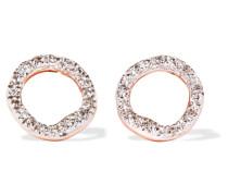 Riva Circle Ohrringe aus -vermeil mit Diamanten