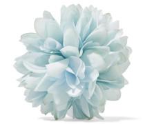 Blumenbrosche Aus Seide Und Baumwollmischung -