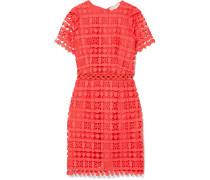 Kleid aus Schnurgebundener Spitze und Crêpe De Chine