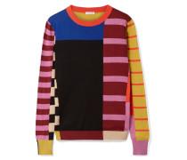 Pullover aus Baumwolle in Patchwork-optik