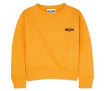 Sweatshirt aus Beflocktem Baumwoll-jersey