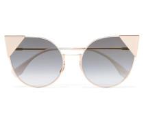 farbene Sonnenbrille mit Cat-eye-rahmen