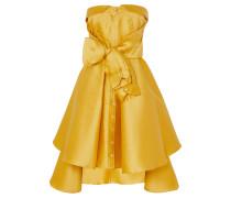 Minikleid aus Glänzendem Twill mit Schleife