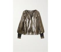 Helena Oversized-bluse aus einer Seiden-lurex®-mischung