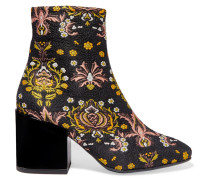 Ankle Boots Aus Jacquard Mit Blumenmuster