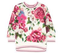 Verziertes Sweatshirt aus Jersey aus einer Baumwollmischung