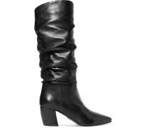Kniehohe Stiefel aus Leder