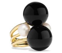 Nova Ring aus 18 Karat  mit Onyxen und Perlen
