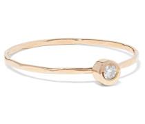 Ring aus 14 Karat  mit einem Diamanten