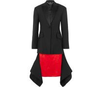 Asymmetrische Jacke aus einer Wollmischung