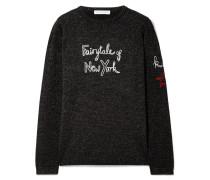 + Kate Moss Fairytale Of New York Bestickter Pullover aus einer Wollmischung in Metallic-optik