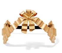 Vergoldetes Haarband mit Kunstperlen