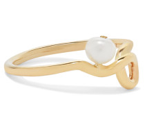 Clio Ring aus 9 Karat  mit Perle