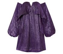 Schulterfreies Minikleid aus Lurex®