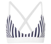 Bb Gestreiftes Triangel-bikini-oberteil