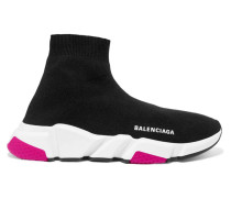 Speed High-top-sneakers aus Stretch-strick