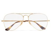 Aviator farbene Brille